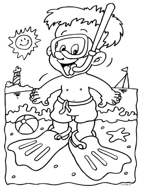 Duiker Kleurplaat by Kleurplaat Duiker Zwembad Snorkel Kleurplaten Nl