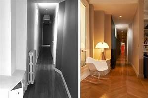 avant apres renovation d39un appartement haussmannien a With couleur pour un couloir 5 une entree et un couloir contrastes home by marie