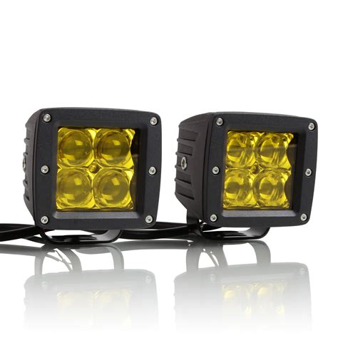 led light pods optix dominator 5d led pods 4 inch spot lights yellow