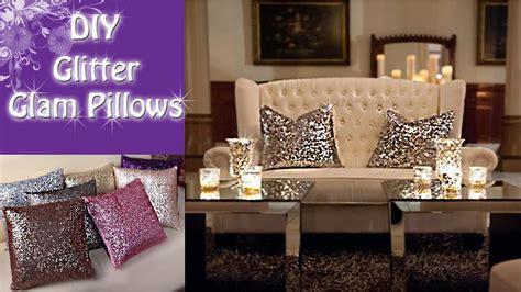 Diy Glitter Glam Pillows  Youtube