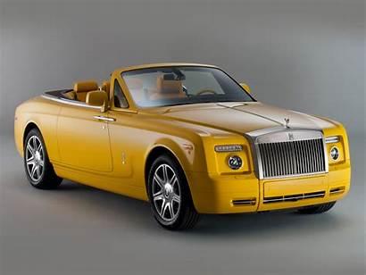 Royce Rolls Phantom Yellow Cars Wallpapers Drophead