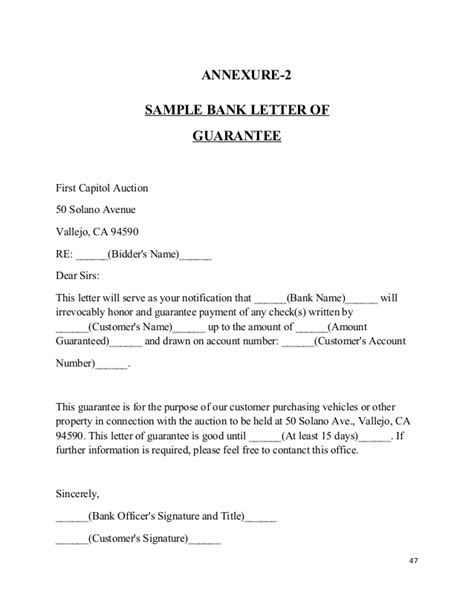 Bank Guarantee Renewal Request Letter Format