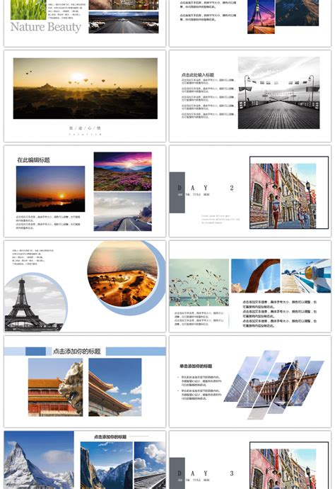 awesome  travel diary album  template  unlimited