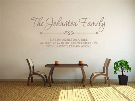 personalised family wall art quote wall sticker decal