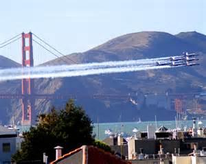 Blue Angels Under Golden Gate Bridge