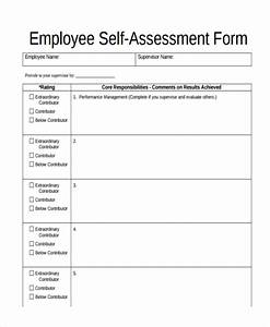 47 assessment form examples free premium templates With self assessment templates employees