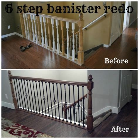 Restaining Banister by Bits Of Everything 6 Step Banister Redo Home Redo