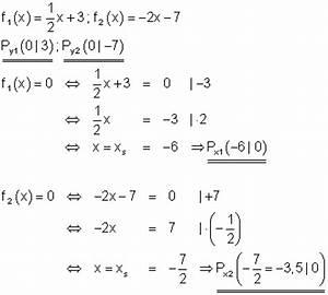 Achsenschnittpunkt Berechnen : l sungen lineare funktionen teil xi ~ Themetempest.com Abrechnung