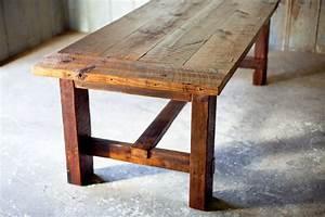 Broad Street Farm Table Reclaimed Wood Farm Table