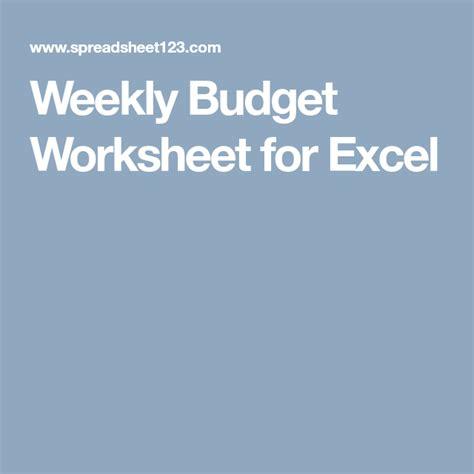 weekly budget worksheet  excel  images
