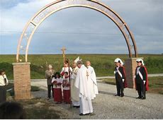 Bishop blesses new cemetery at Harrison Arkansas