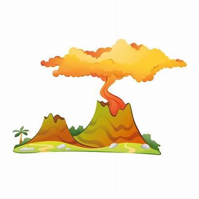 Volcano Dinosaur Clipart Vulcani Dinosauri Vulcano Transparent
