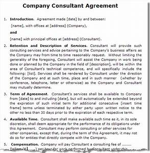 it consultant contract template - 4 consulting contract templatereport template document