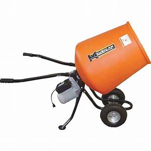 Kushlan Portable Electric Direct Drive Cement Mixer — 3.5 ...