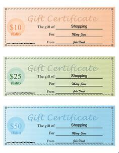 printable gift certificates images gift