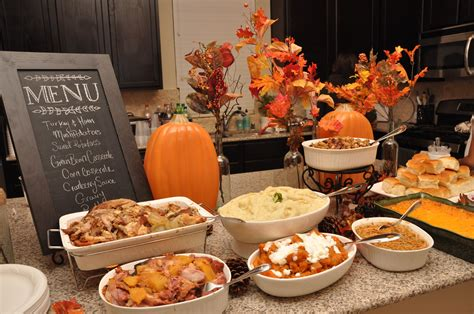 Kitchen Buffet Dinner by Countdown To Thanksgiving 2016 Tips For A Stress Free