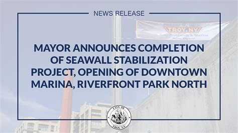 Mayor Madden Announces Completion of Seawall Stabilization ...