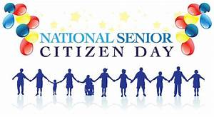 Senior Citizens Day Joined Hands And Balloons Picture