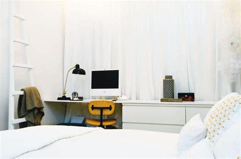 ikea malm bureau sovrum och kontor i ett hus hem
