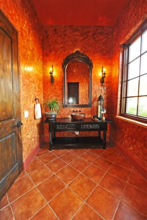 orange bathroom tiles ideas  pictures