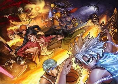 Naruto Bleach Crossover Dragonball Wallpapers 4k Anime