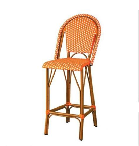 outdoor 45 quot high back bar stools counter height chairs