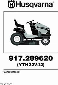 Husqvarna Yth22v42 Om  Yth22v42  2010 05  Tractors  Ride