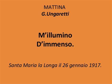 Mi Illumino Di Immenso Poesia by La Poesia