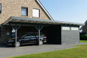 Anbau Carport Alu : carport mit flachdach aus holz wandanbau online bestellen ~ Sanjose-hotels-ca.com Haus und Dekorationen