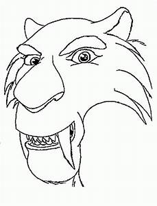 Saber Tooth Tiger Coloring Pages Coloring Home