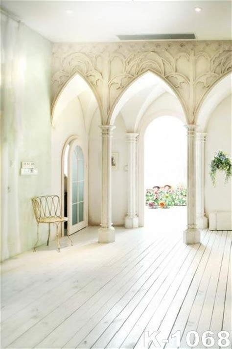Backdrop Family by White Room With High Arch Alcoves 5x7ft 150x200cm Vinyl