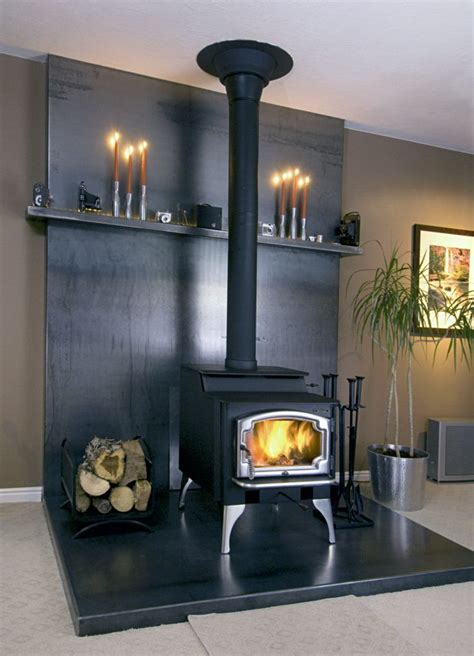 wood burning stove tile surround ideas google search