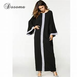 casual muslim abaya maxi dress long sleeve robe gowns With vêtements pour femme musulmane