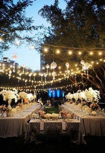 decoracion  bodas en jardin de noche al aire libre