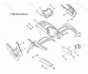 Polaris Atv 2005 Oem Parts Diagram For Front Cab   Ac  Ag  Ah