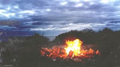 Summer Nature Gifs Fire Nights Camp Beach