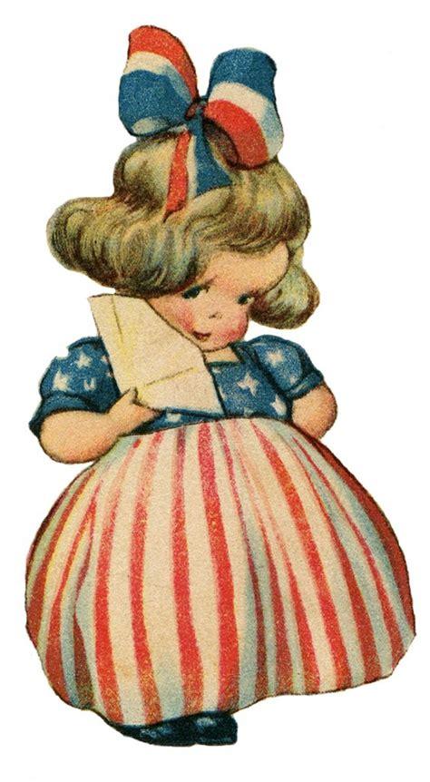 cute patriotic girl image  graphics fairy