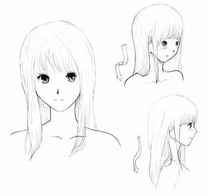 images of anime girl with straight hair summer