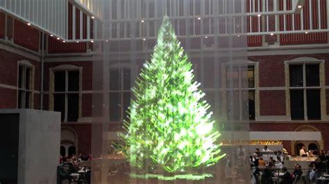 meter hologram christmas tree rijksmuseum amsterdam