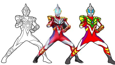 Coloring Ultraman Geed by Ultraman Drawing At Getdrawings Free For Personal