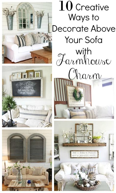 10 ways to fill the space above your sofa creative ways to decorate above the sofa little vintage nest