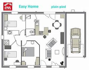 plan maison plain pied 85m2 With plans de maison gratuit 2 maison bretonne detail du plan de maison bretonne