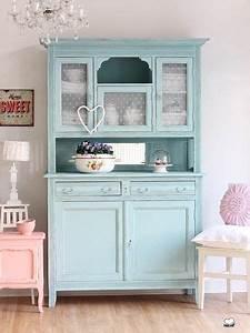 Möbel Streichen Vintage : k chenbuffet k chenschrank in t rkis von bleu et ros auf n hen pinterest ~ Markanthonyermac.com Haus und Dekorationen