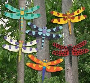 Giant Dragonfly Wood Outdoor Yard Art, Lawn Ornament