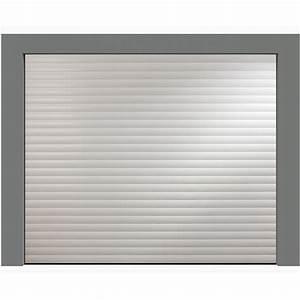 Porte de garage enroulable aluminium 240 x 200 blanche for Porte de garage enroulable de plus porte interieur blanche