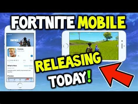 fortnite mobile releasing today ios