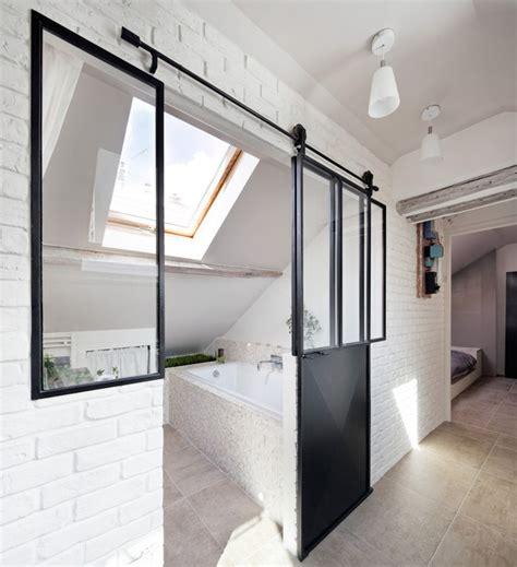salle de bain sous les toits habiter sous les toits contemporain salle de bain par prisca pellerin architecture