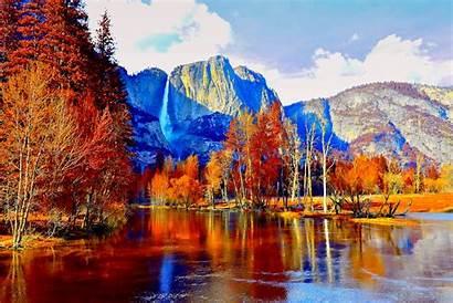 Autumn Wallpapers Fall 4k Mountain Lake Yosemite