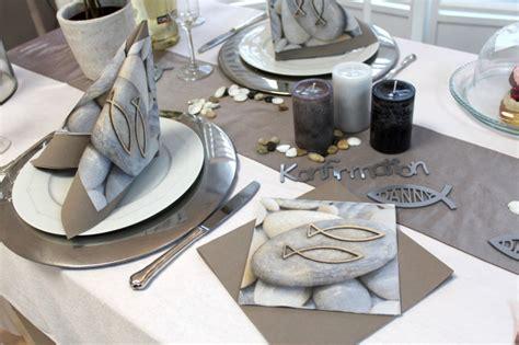 Tischdeko Türkis Grau by Tischdeko Konfirmation Taupe Greige Fisch Mit Namen Set 20