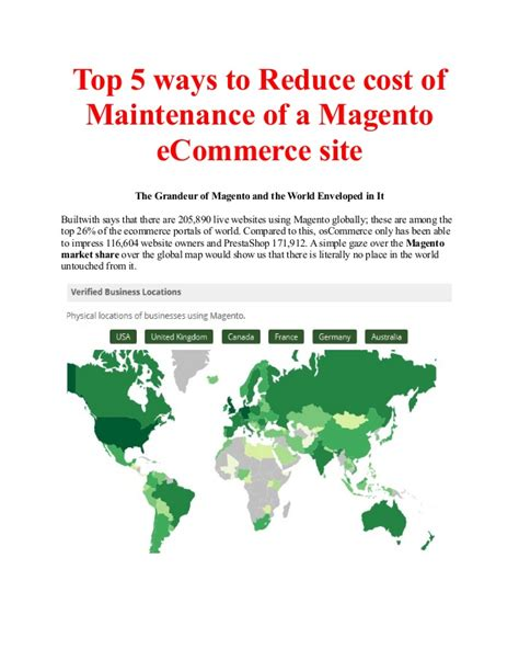 Top 5 Ways To Reduce Cost Of Maintenance Of A Magento E
